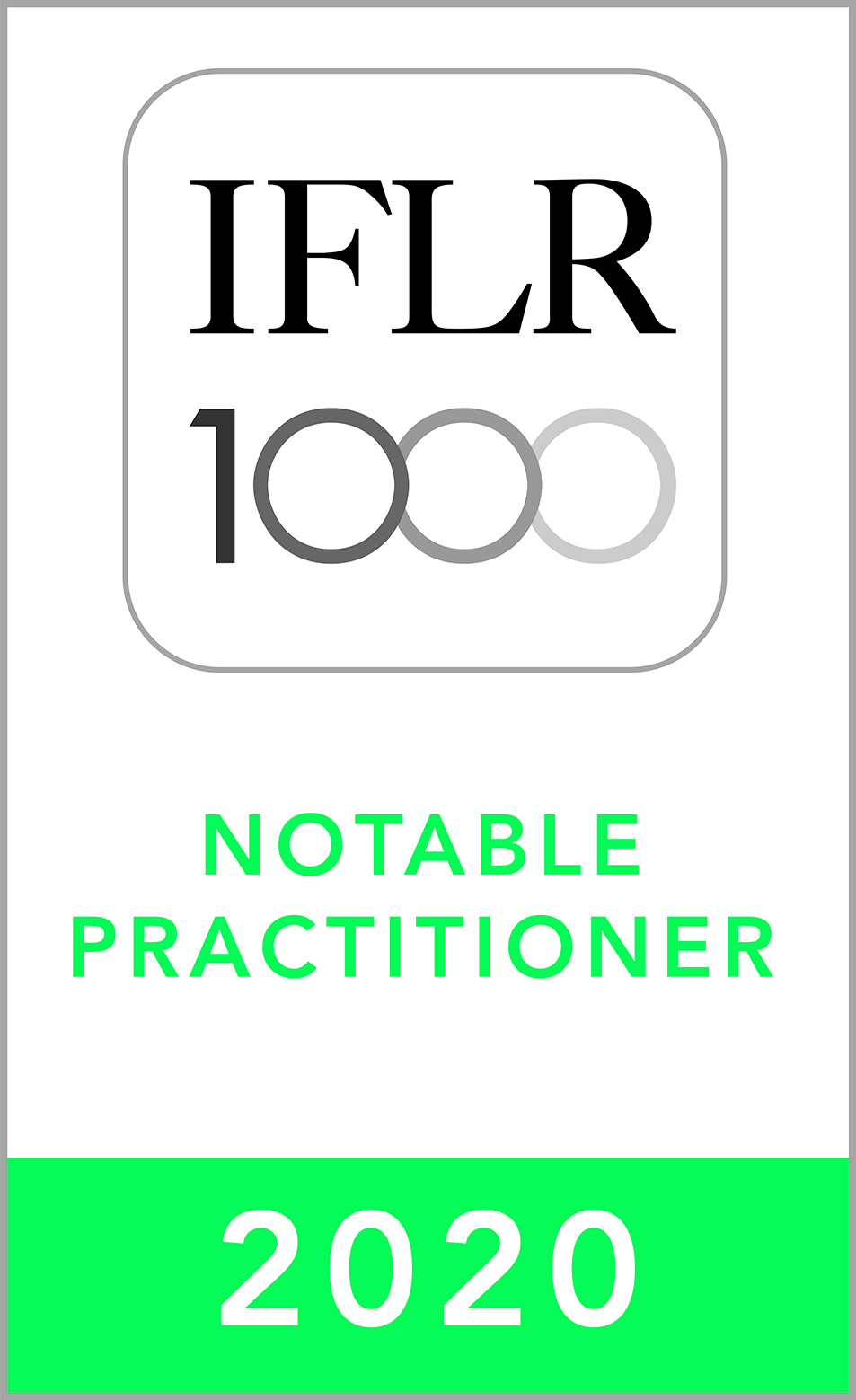 IFLR1000 2020 Notable Practitioner