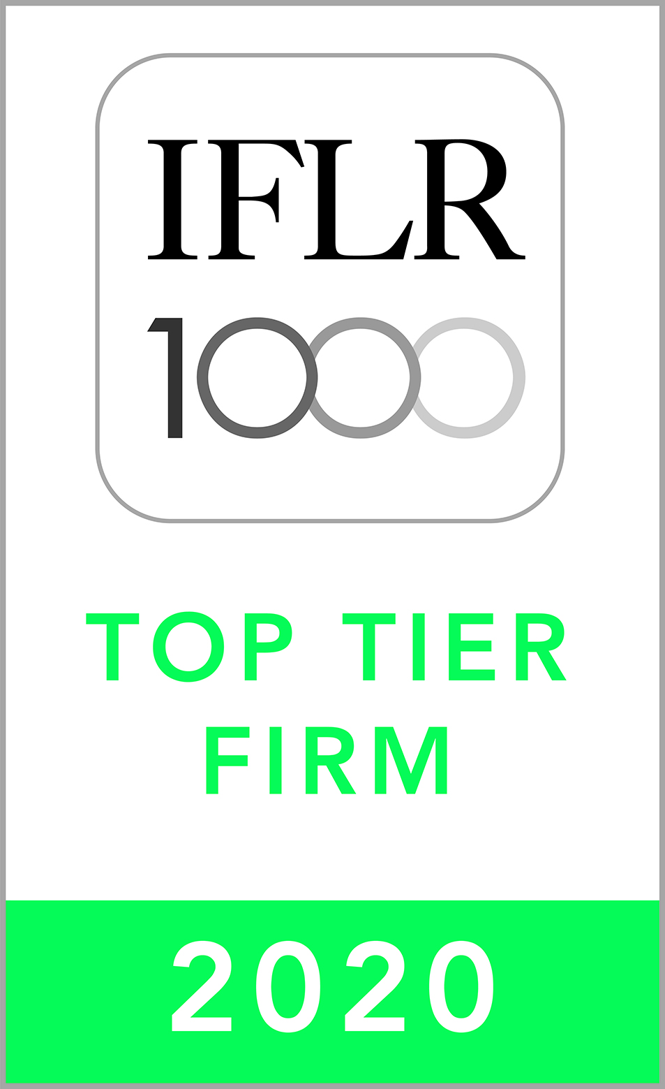 IFLR1000 2020 Top Tier Firm