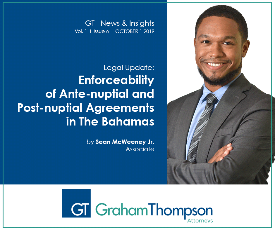 Enforceability of Anti-nuptial Agreements in The Bahamas