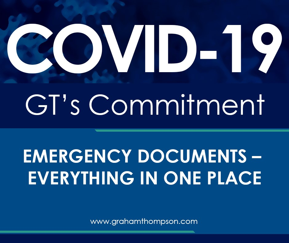COVID 19 Emergency Documents – Everything in One Place