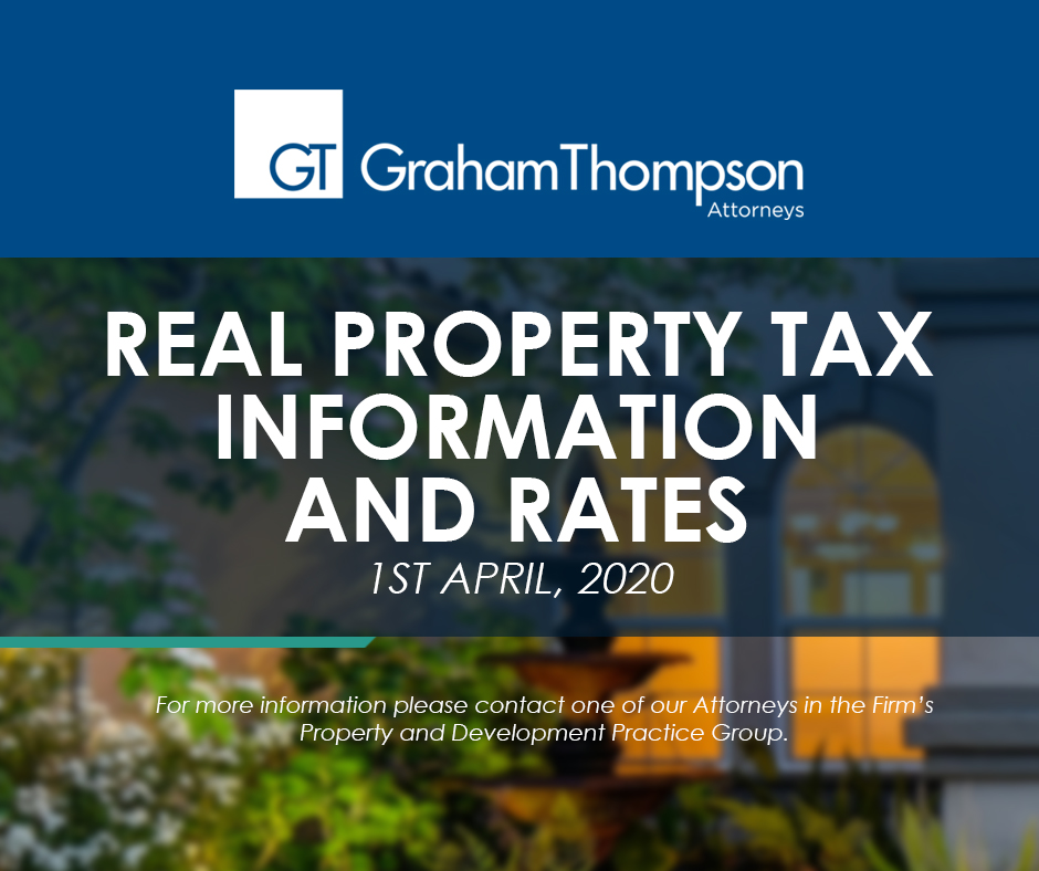 Real Property Tax Information & Rates, April 1 2020