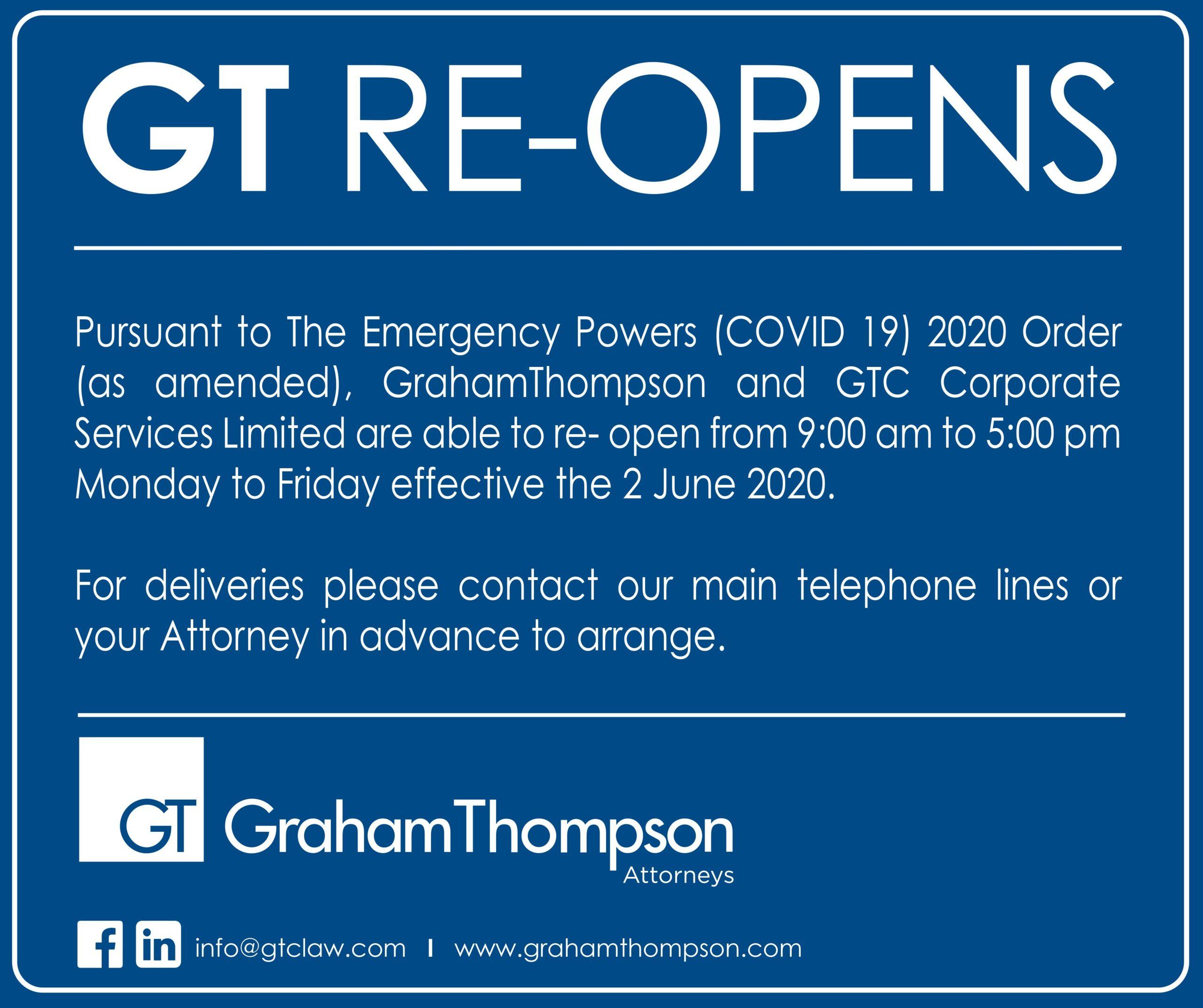 GT RE-OPENS