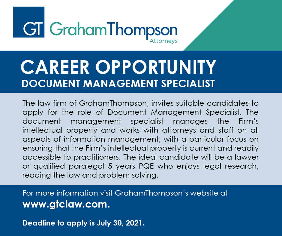 CAREER OPPORTUNITY – Document Management Specialist
